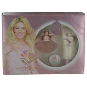 S BY SHAKIRA EAU FLORALE by Shakira EDT SPRAY 80ml & BODY LOTION 100ml & LIP BALM .150ml for WOMEN ---