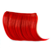 Abwin Coloured Clip in Bangs / Red