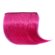 Abwin Coloured Clip in Bangs / Hot Pink