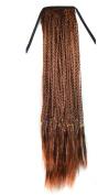 Abwin Bundled Long Braid Ponytail / Medium Auburn