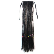 Abwin Bundled Long Braid Ponytail / Black