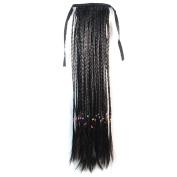 Abwin Bundled Long Braid Ponytail / Black