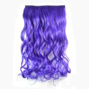 Abwin Single Colour Clip in Hair Wavy / Purple