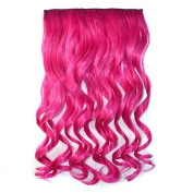 Abwin Single Colour Clip in Hair Wavy / Hot Pink