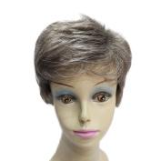 Capless Grey Short Haircut Styles Mens Wig