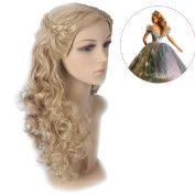Wig Mall Cosplay Wig of Princess Cinderella Long Curly with Braids Brown