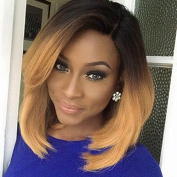 PlatinumHair ombre blonde short bob wigs synthetic lace front bob wigs for black women 41cm