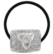 Celtic Triskele 'Bling' Hair Tie - with Clear CZ