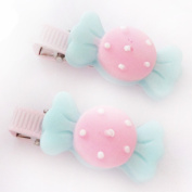 2 X Baby Girls Hair Clip Cute Resin Candy Colour