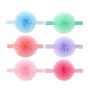 V-noah Elastic Snow Shadai Children's hair band 6pcs Multi-colour