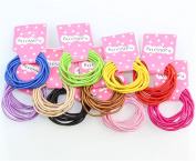 Yontree 100pcs Baby Girl Kids Tiny Rubber Hair Bands Elastic Ties 10 Candy Colours