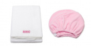 Mimi's Diva Darling by Aquis Microfiber 48cm x 100cm Hair White Towel and Microfiber Patented Design Hair Turban - Pink