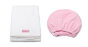 Mimi's Diva Darling by Aquis Microfiber 48cm x 100cm Hair White Towel and Microfiber Patented Design Hair Turban - Pink