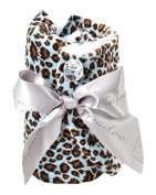 Wrapadoo 2-in-1 Hair Towel, Blue Cheetah