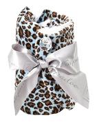 Wrapadoo 2-in-1 Hair Towel, Blue Cheetah