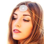 Yoyorule Womens Tassels Head Chain Jewellery Headband Party Headpiece