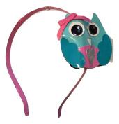 Blue/Pink Owl Headband