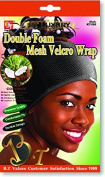 Beauty Town Double Foam Mesh hook and loop Wrap - Coconut Oil Treated - Black