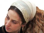 Sara Attali Design Head Scarf Tichel Half Hair Covering Headband One Size Shining Golden
