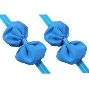 2X Pretty baby girls headband toddler infant chiffon bowknot headbands