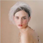 XX Shop Bride Short Wedding Veil Crystal Studio Modelling Veil,One Size#1