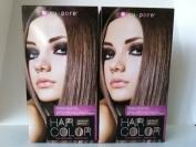Nu-pore Hair Colour Medium Brown One Application Amonia Free
