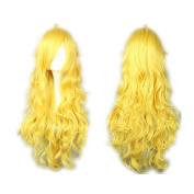 COSPLAZA Cosplay Wigs Long Curly Wavy Yang Xiao Long Yellow Lovely Full Hair 80cm For Girls