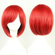 TLT 28cm (11inch) Short Straight Sexy Stylish Cosplay Party Hair Wigs (Red) BU029R