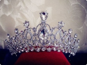 Sunshinesmile Crystal Tiara Crowns Hair Jewellery Rhinestone Wedding Pageant Bridal Princess Headband