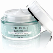Anti Ageing Face Cream - One Body's Age Defying Moisturiser is the Best for Smoothing Wrinkles, Moisturising Damaged Skin and Collagen Production with 6 Powerful Ingredients in one cream, Start Today!