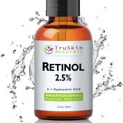 BEST Retinol Serum for Wrinkles & Fine Lines - [BIG 60ml Bottle] -2.5% Vitamin A + Hyaluronic Acid, Vitamin E, Organic Green Tea, Jojoba Oil - Use with TruSkin Naturals Vitamin C Anti Ageing Serum