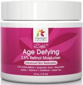 NEW 2.5% Retinol Cream Moisturiser by InterSight - 120ml - Premium Organic Anti Ageing Formula Includes Retinol, Shea Butter, Hyaluronic Acid & Jojoba Oil - Best Anti Wrinkle - Use Day & Night