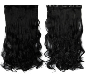 FIRSTLIKE Long Thick Clip in on Hair Extensions Hairpieces Women Beauty Cosplay Dress Party Wedding One Piece 3/4 Full Head Vary Colour