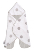 The Gogo Newborn Stroller Blanket and Swaddle (0-7 months) White Grey Dot