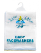 Blue Bunny Gauze Baby Face Towel, 3-Pack