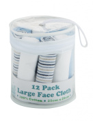 Teeny Weeny Large Face Cloths, 12-Pack