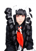 Cf-fashion Danganronpa Dangan-ronpa Celestia Ludenberg Black Styled Long Ponytails Without Hair Accessory Party Costume Cosplay Wig for Halloween