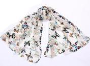 FuzzyGreen® Scarf Shawl Butterfly Autumn Thin Wrapping Women Girls Throw Stole Soft