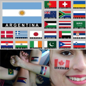 Temporary Body Face Country Flag Tattoo Stickers Water Transfer Party Tattoos