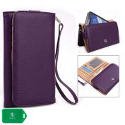 Purple Cellphone wallet case wristlet helps keeps your phone, cash and cards organised| New Ships out of the USA|Universal fit for