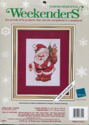 Weekenders Jingle Bell Santa Counted Cross Stitch Picture Kit