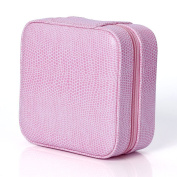 VORCOOL Portable Folding Jewellery Storage Box Dressing Case - Pink