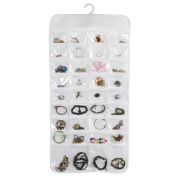 Topeakmart 72 Pocket Jewellery Hanging Organiser-Dual Sides