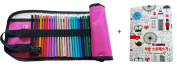 48 Piece Artist Grade High Quality Coloured Pencil Set with Free Pencil Holder,sharpener & Adults Colouring Book