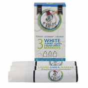 JC Crafts 3 Jumbo White Liquid Chalk Markers, 15mm