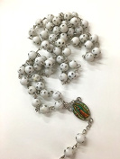 12 X Wholesale Bulk Rosary Long Faux Pear Lady of Guadalupe Rosary Chain for Baptism , Wedding , Religious Favour and Your Choice of Gift Bag /Baptism Favour