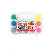 International Arrivals Lil' Paint Pods Poster Paint, Neon & Glitter, Set of 12