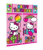 Shindigz Birthday Decoration Hello Kitty Rainbow Scene Setter Kit