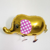 ELEPHANT WALKING ANIMAL PET AIRWALKER GOLD BALLOON NEW