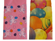 2 Easter Theme Plastic Tablecovers - 2 Designs